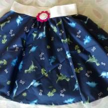 Dinosaur print Circle Skirt