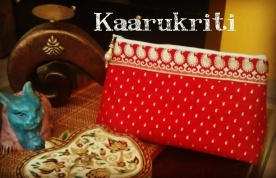 Beautiful embossed Make Up Pouch