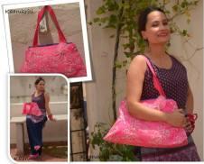 Pink Batik Boat Bag