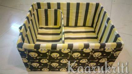 Tweety Print Fabric Box to house hair accessories and what have you may