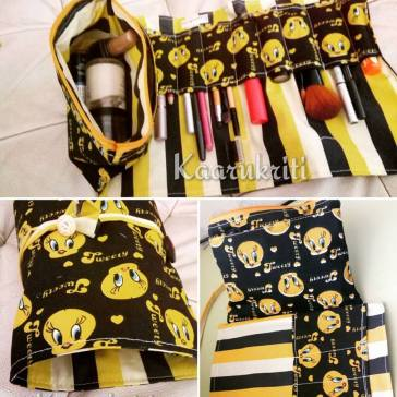 Roll up Make Up Kit with an attached Pouch