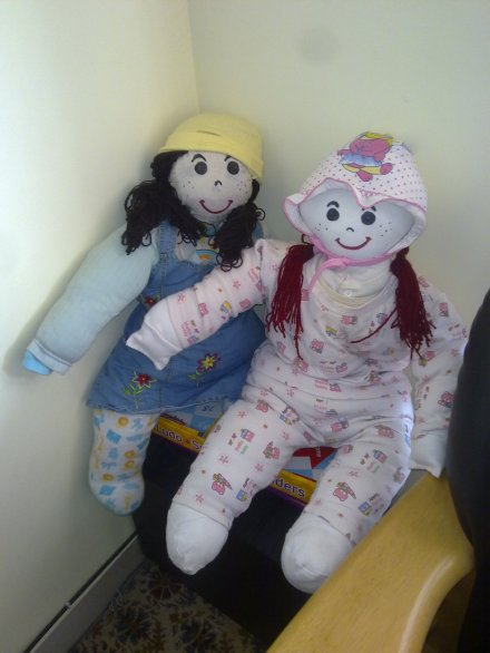 Lily and Poochie - The Two Rag Dolls