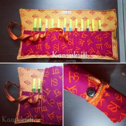 Akshara and Block Printed Colour Roll Kit by Kaarukriti
