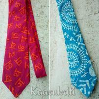 Akshara and Warli Neckties by Kaarukriti