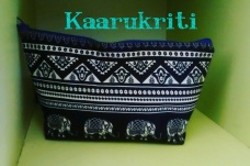 Black and white ,ake up pouch