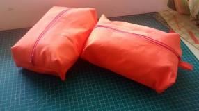 Box pouch orange