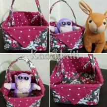 Cute Fabric Basket by Kaarukriti