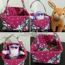 Cute Fabric Basket by Kaarukriti
