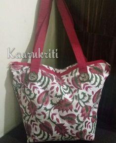 Gorgeous Floral Printed Shoulder Tote by Kaarukriti