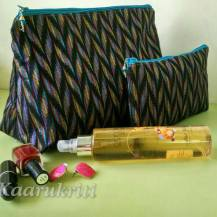 Ikat Make up pouches