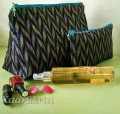 Ikat Make up pouches