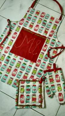 Jam Jar apron set