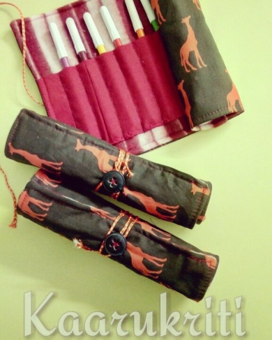 Sketch pen roll kit