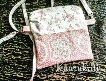 Sling Bag pink and white