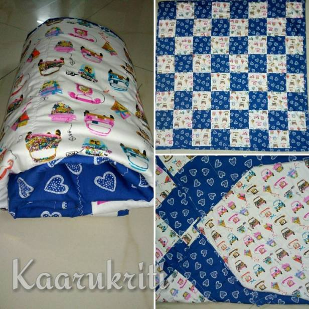 telephone and hearts quilt
