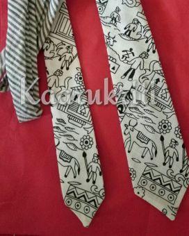 Warli White Neckties